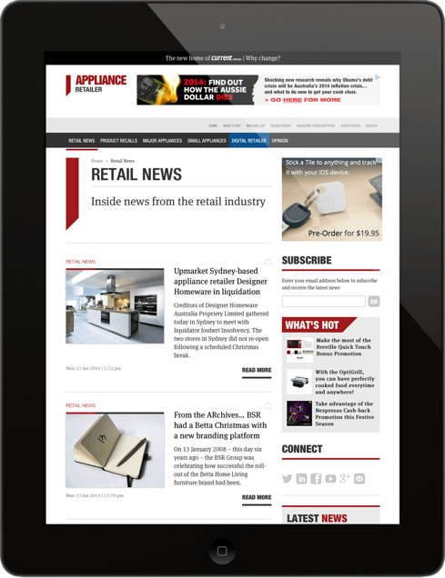 Appliance Retailer Tablet