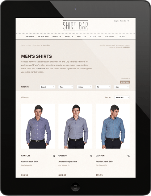 Shirt Bar Tablet